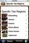 Ofrece categorías de tés por regiones específicas del mundo.